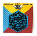 Flex Comics Logo Dice BLUE - Patch
