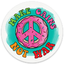 Make Gains Not War - Vinyl Sticker