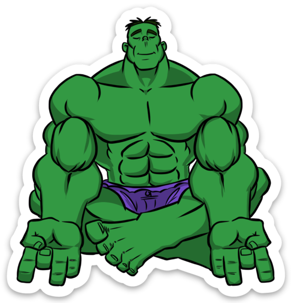 No Smash Incredible Bulk - Vinyl Sticker
