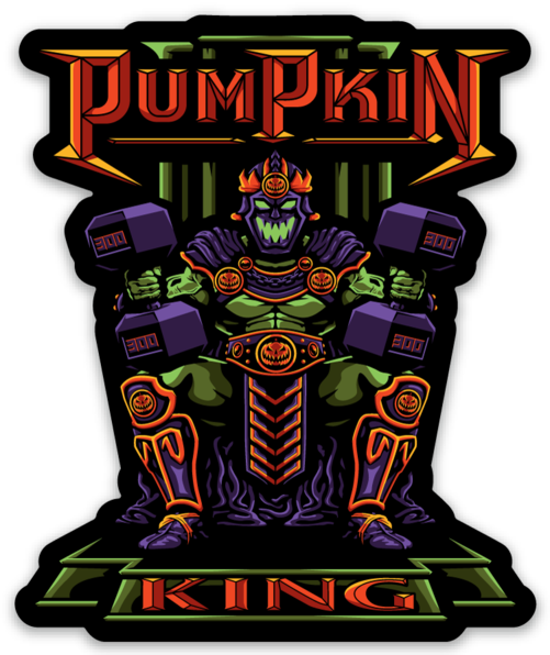 PUMPkin King - Vinyl Sticker