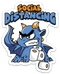 Social Distancing Dragon - Vinyl Sticker