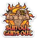 Suns Out Guns Out - Vinyl Sticker