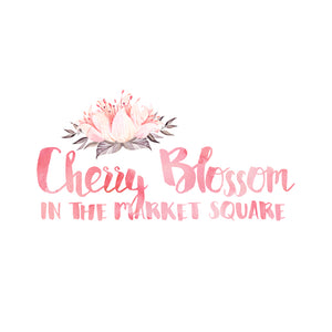 Cherry Blossom in the Market Square Logo