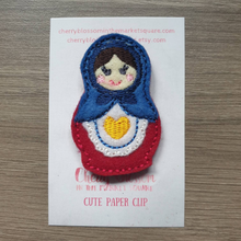 Load image into Gallery viewer, Russian Stacking Doll Babushka Paper Clip