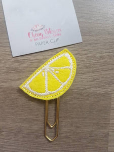 Lemon Slice Paper Clip