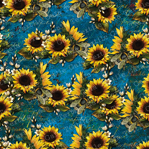 STOCK Sunflowers and Bees3 - CL 250 gsm