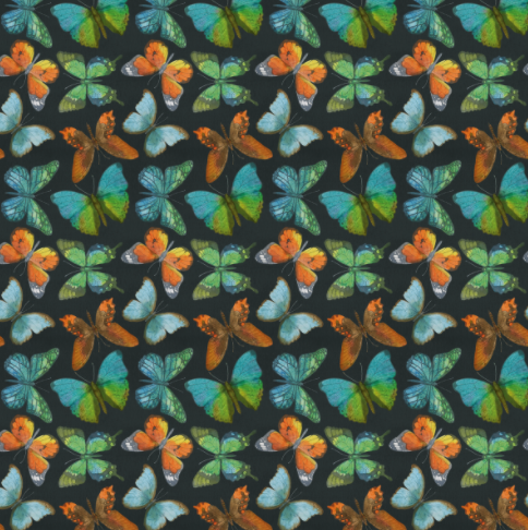 Rustic Butterflies (orange-vert) - CL 250 gsm
