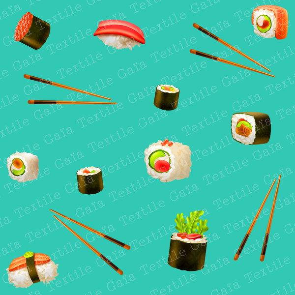 STOCK Sushi1 - Coton Popeline 120 gsm