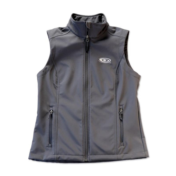 Ladies Medium Gray Softshell Vest
