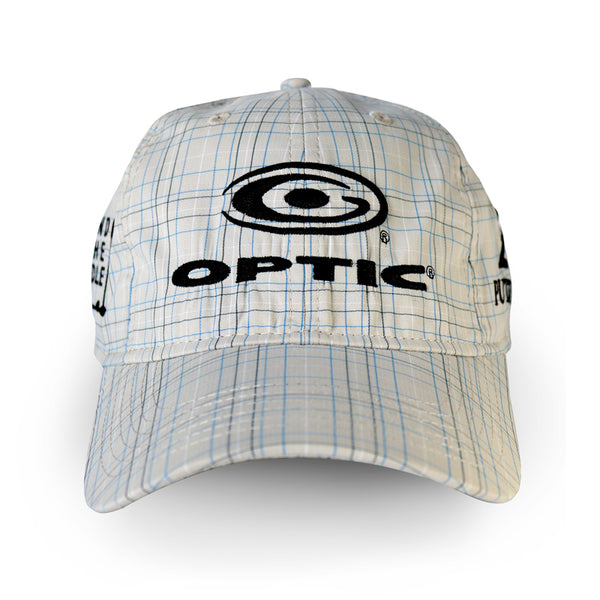 Cream Plaid Adjustable Tour Hat