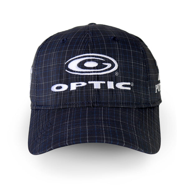 Dark Navy Plaid Adjustable Tour Hat