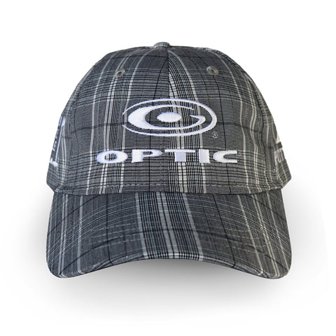 Gray and White Plaid Adjustable Tour Hat