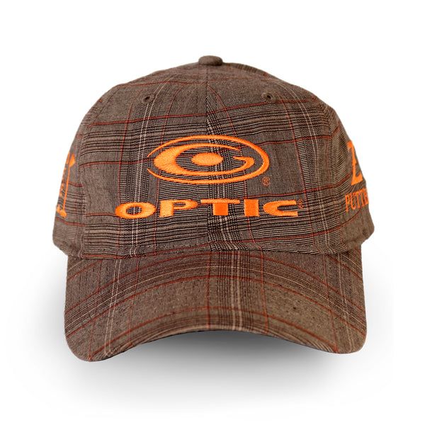 Brown and Orange Plaid Adjustable Tour Hat