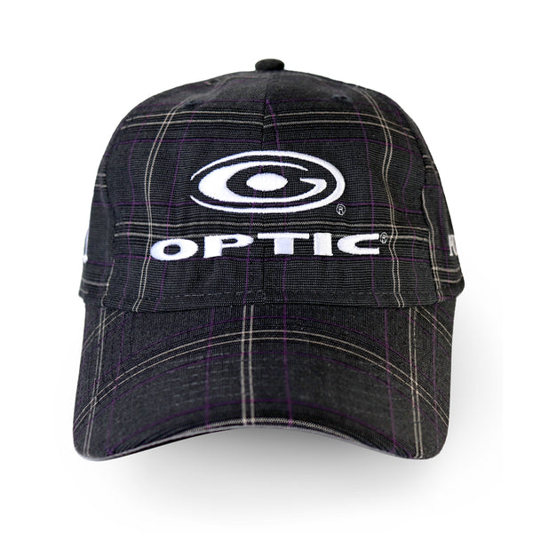Charcoal and Purple Plaid Adjustable Tour Hat