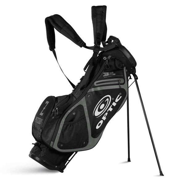 Optic Black and Gray Stand Bag by Sun Mountain