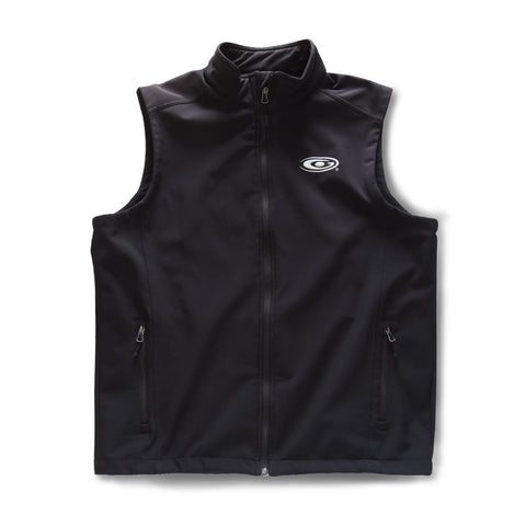 Men's Black Lightweight Sheer Softshell Vest