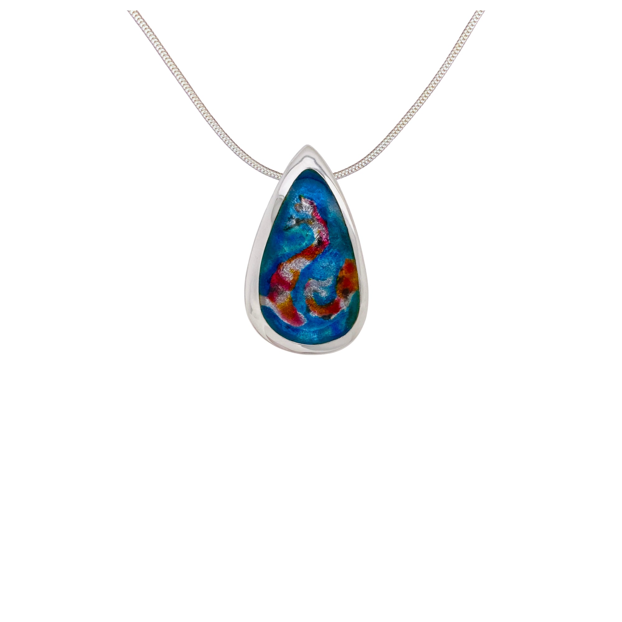 Camille Patton Koi Pond Champleve Jewelry Necklace S01