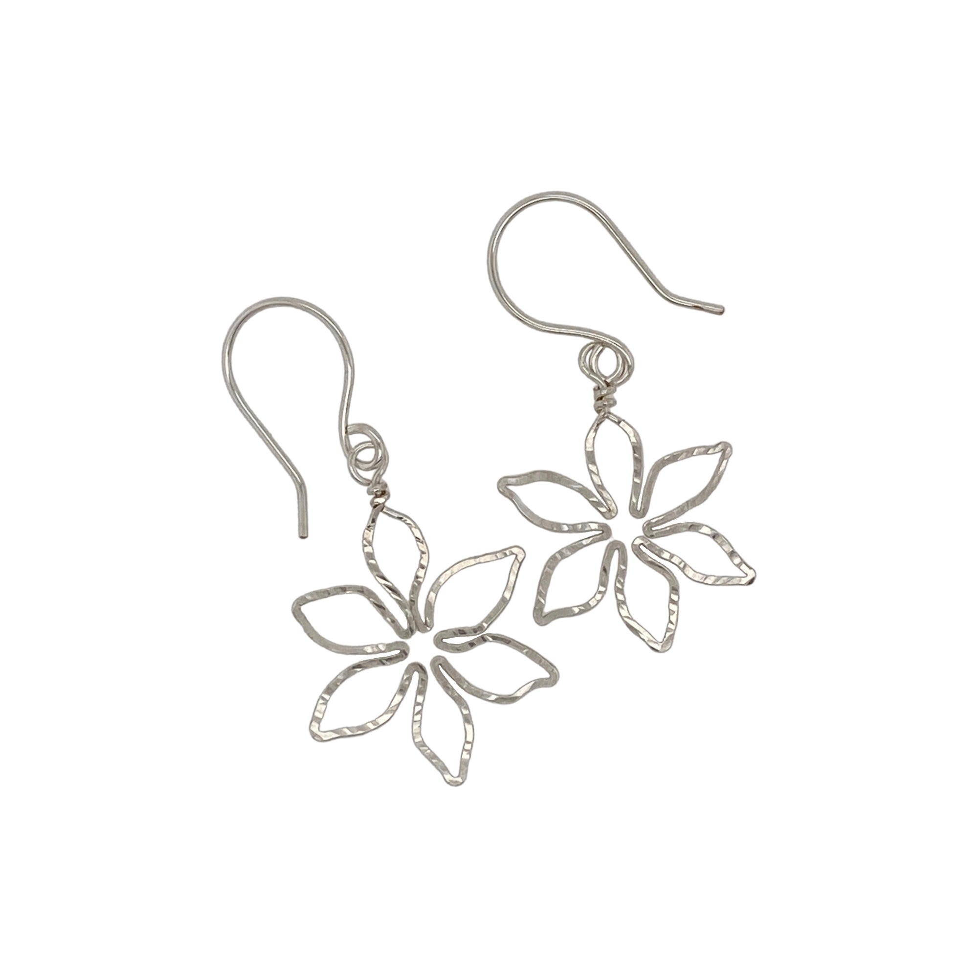 Camille Patton Lily 6 Petal Wire Jewelry Earrings S01