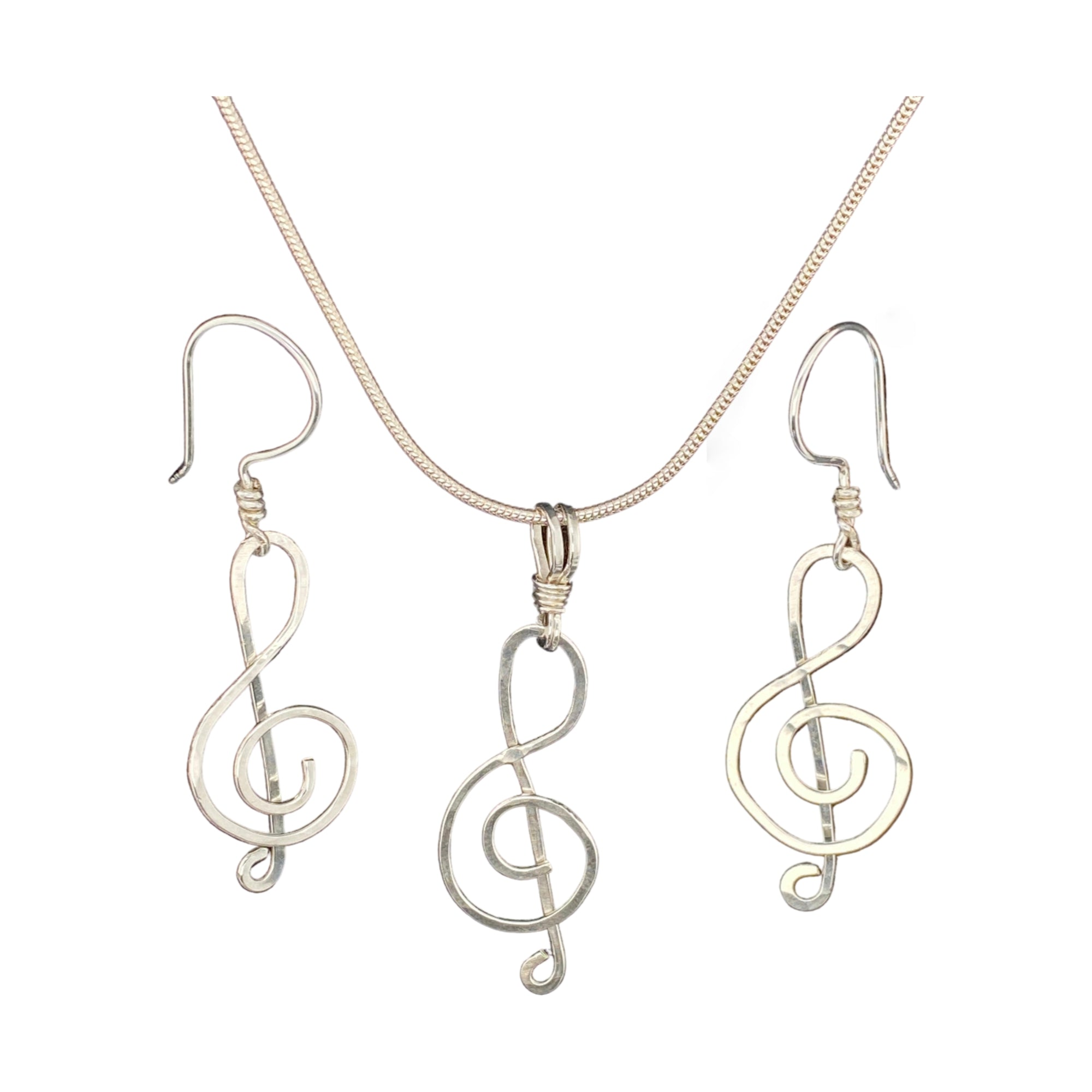 Camille Patton Treble Clef Wire Jewelry Set S01