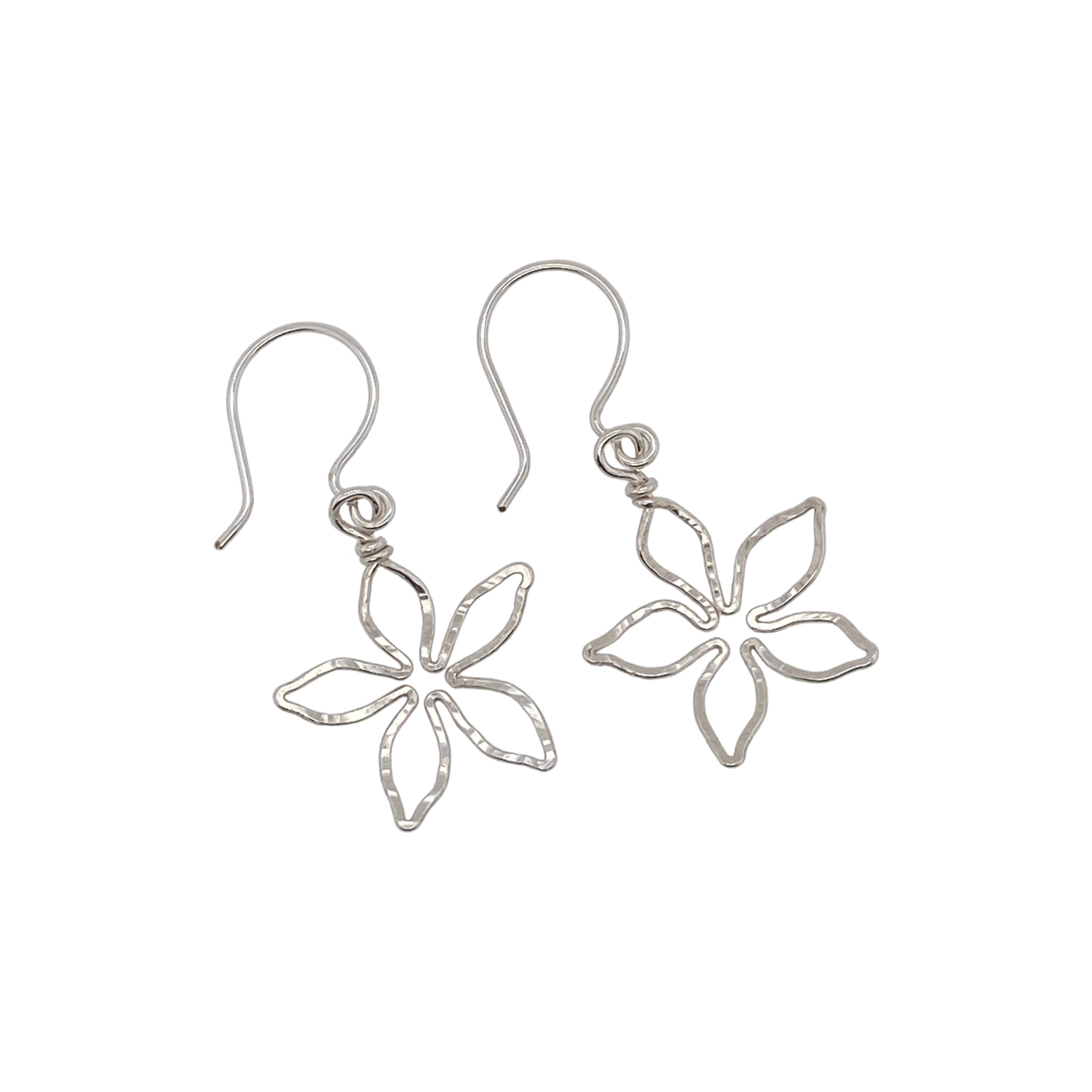 Camille Patton Violet 5 Petal Wire Jewelry Earrings S01