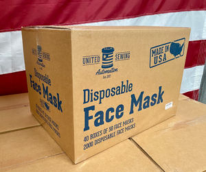 10 Disposable Black PPE Face Masks - 1 Box of 10 ($.99/mask)