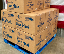 Load image into Gallery viewer, 10 Disposable Black PPE Face Masks - 1 Box of 10 ($.99/mask)