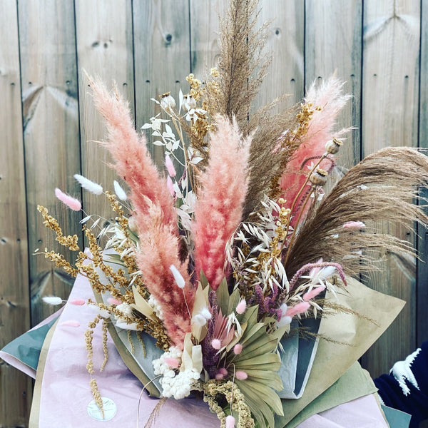 Blushing Beauty Dried Flower Bouquet