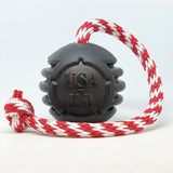 NEW! USA-K9 MAGNUM Black Stars and Stripes Ultra-Durable Reward Toy
