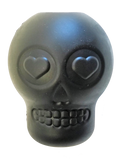 MKB Magnum Sugar Skull Ultra-durable Chew Toy & Treat Dispenser - Large - Black