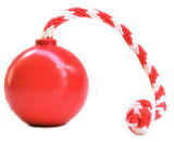 USA-K9 Cherry Bomb Rubber Reward Toy Treat Dispenser- Red