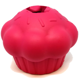 MKB Cupcake Durable Rubber Chew Toy & Treat Dispenser - Pink