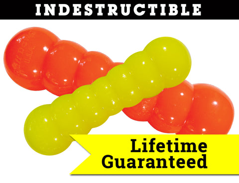 Dawg-Buster Indestructible Rubber Floating Chew Toy - Guaranteed for Life