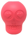 MKB Sugar Skull Durable Rubber Chew Toy & Treat Dispenser - Large - Pink