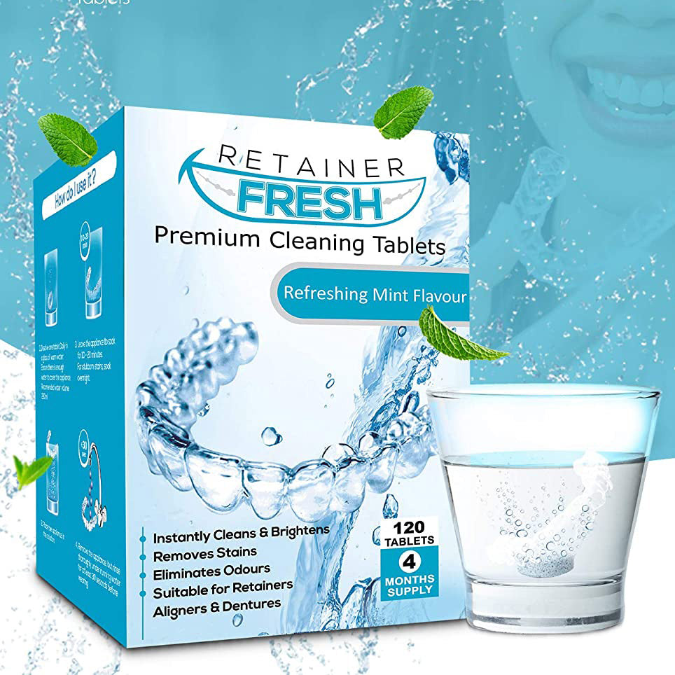 Retainer Cleaning Tablets 4 Month Supply 120 Tablets by Retainer Fresh