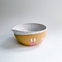 Speckled Bunny Matcha Bowl