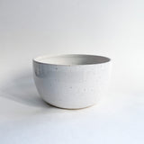 "6.5"" White Speckled Soup Bowl"
