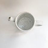 Matte White Speckled Pitcher (35 oz)