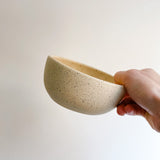 "5"" Beige Speckled Bowl"