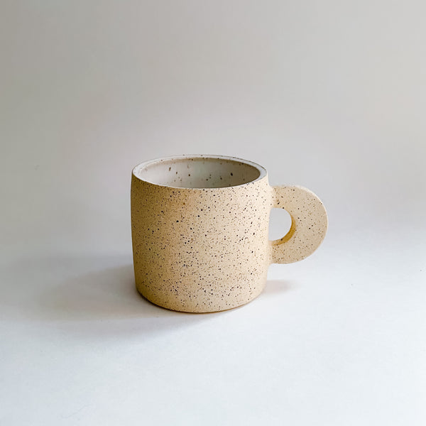 Beige Speckled Espresso Cup