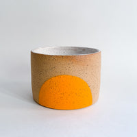 "5"" Speckled Orange Sun Planter Pot"