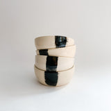 Small Black Stripe Pinch Bowl