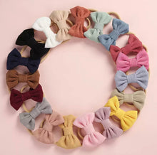Load image into Gallery viewer, Corduroy Bow Headband / Bobble