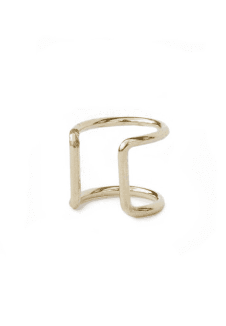 ABLE O/S / Gold Ear Cuff in Gold