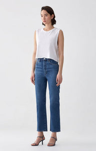 AGOLDE Pinch Waist High Rise Kick Denim in Subdued