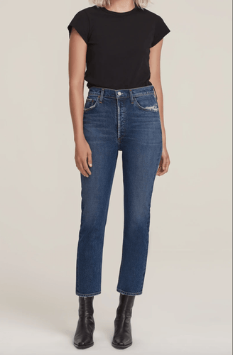 AGOLDE Riley Crop Jean in Pastime
