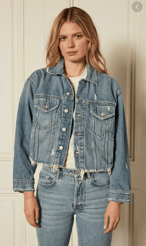 Boyish Jacket Harvey Oversized Crop Jacket in Gilda