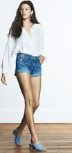 Load image into Gallery viewer, Boyish Marley High Rise Denim Shorts in Rebel with a Cause