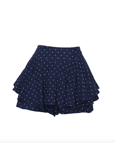 Elyse Wilde Safari Star Light Mini Skort in Navy
