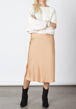 Load image into Gallery viewer, Elyse Wilde Satin Midi Skirt in Almond