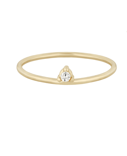 Five and Two Mel Ring in Gold + CZ